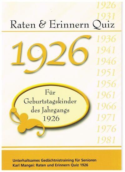 Jahrgangs-Quiz 1926