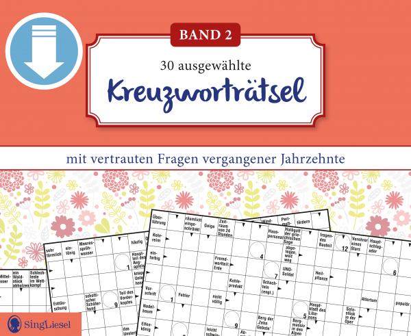 Neue Kreuzworträtsel für Senioren (PDF-Download) Titel