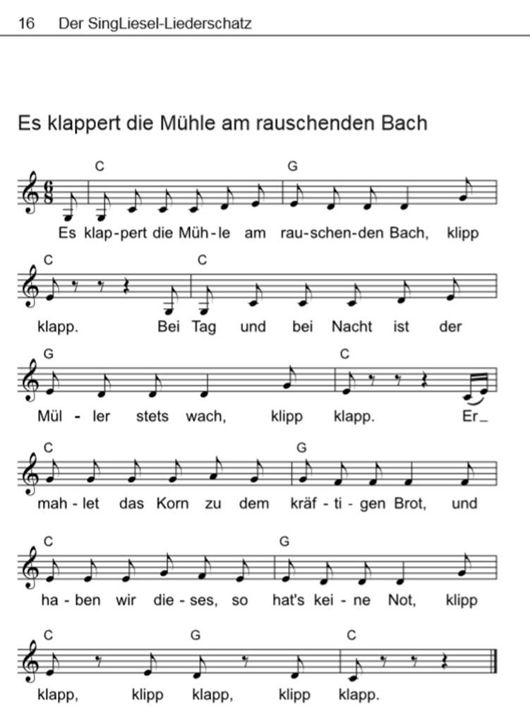 Volkslieder-mit-Noten-es-klappert-die-Muehle