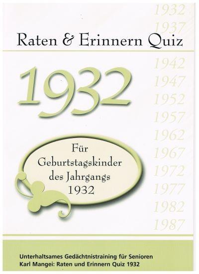 Jahrgangs-Quiz 1932