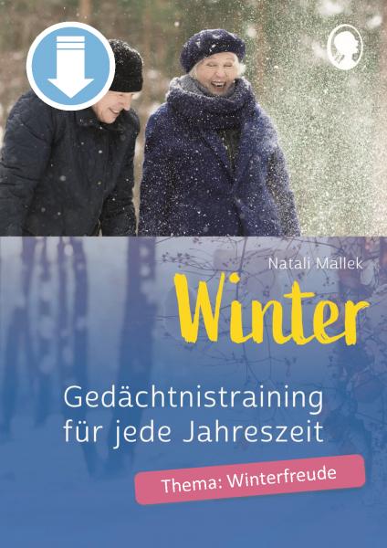 Gedächtnistraining Senioren. Winter. Winterfreuden. Titel