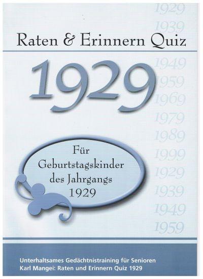 Jahrgangsquizband 1929