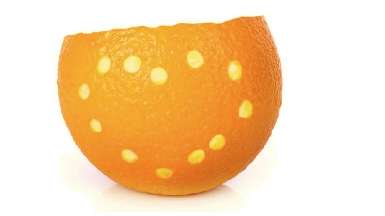 Mandarinen-Teelicht