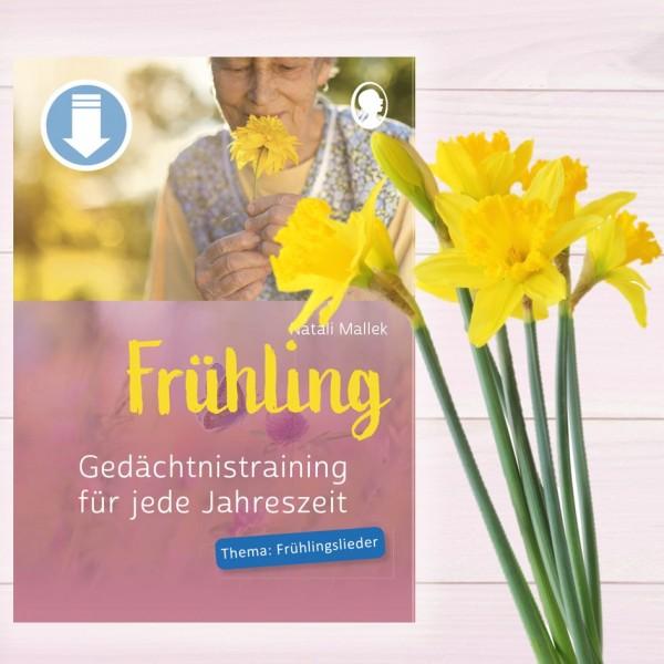 Gedächtnistraining für jede Jahreszeit Frühling - Frühlingslieder (Sofort-Download als PDF) Titel