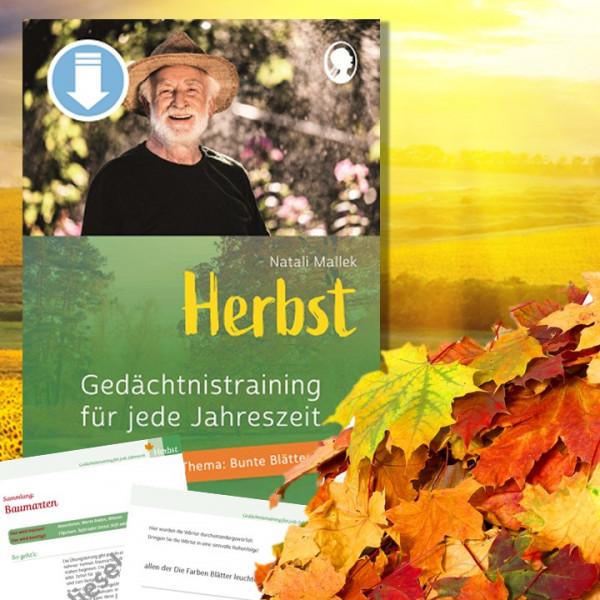 Gedächtnistraining Senioren. Herbst. Herbstbl#ätter. Bunte Blätter. Kopiervorlagen