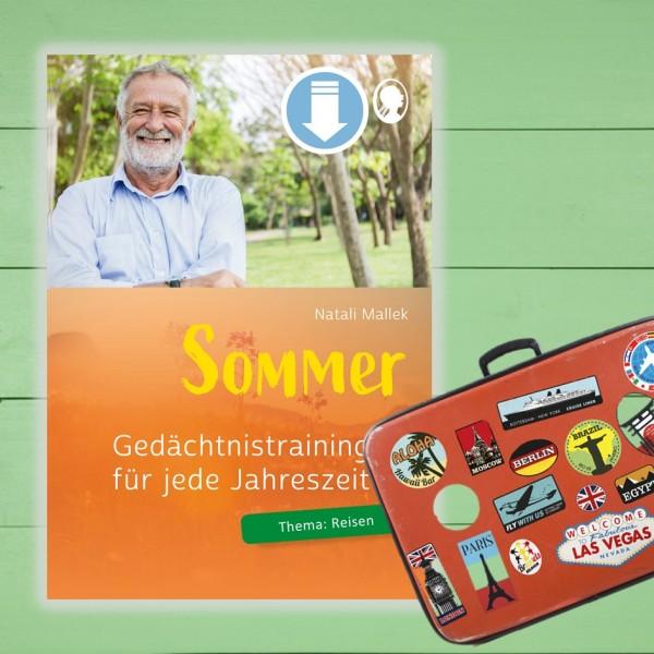 Gedächtnistraining Senioren Sommer Thema Reise
