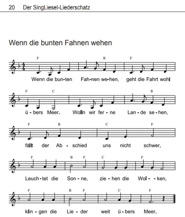 Volkslieder-mit-Noten-wenn-die-bunten-Fahnen-wehen