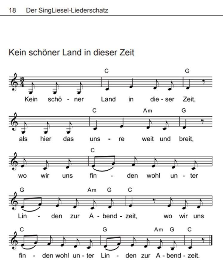 Volkslieder-mit-Noten-kein-schoener-Land-in-dieser-Zeit