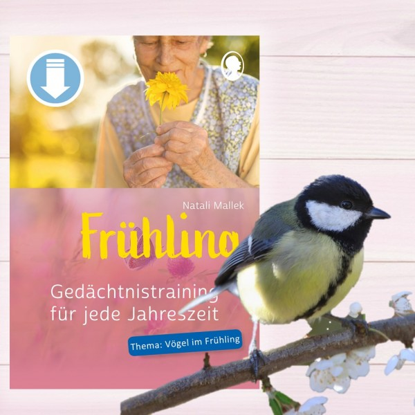 Gedächtnistraining für jede Jahreszeit Frühling - Vögel im Frühling (Sofort-Download als PDF) Cover
