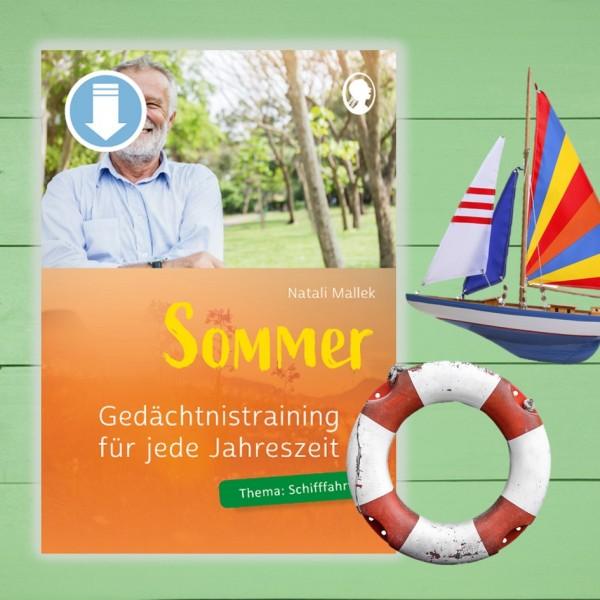 Gedächtnistraining Senioren. Sommer. Reisen und Schifffahrt
