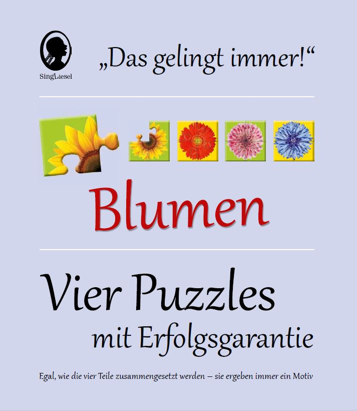 Puzzle für Menschen mit Demenz - Blumen   Demenz Shop - Singliesel.de