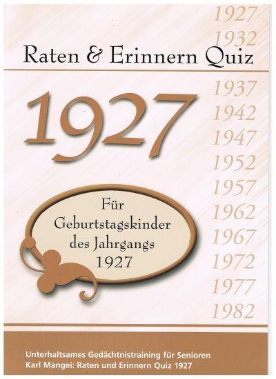 Jahrgangs-Quiz 1927